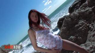 Nice young redhead Yara doing a hot st...photo 1